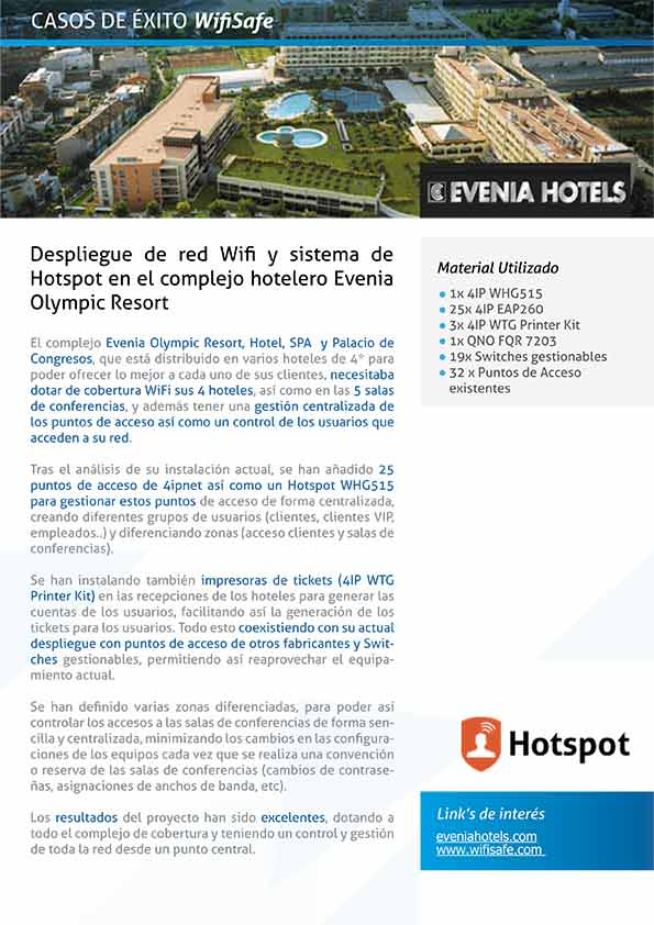PDF caso éxito Wifi en Hotel Evenia Olympic Resort