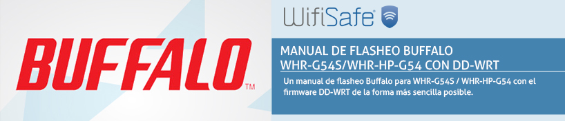 Manual de flasheo Buffalo WHR-G54S/WHR-HP-G54 con DD-WRT