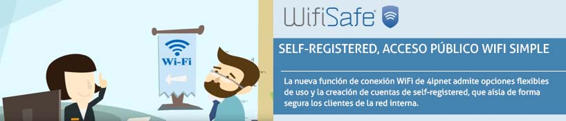 Self-Registered, acceso público WiFi simple