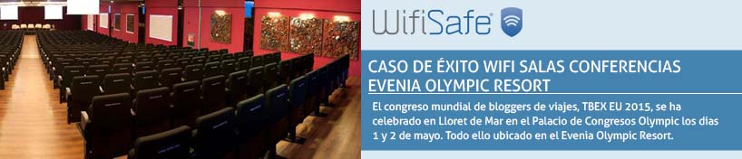 Caso de éxito WiFi salas conferencias Evenia Olympic resort