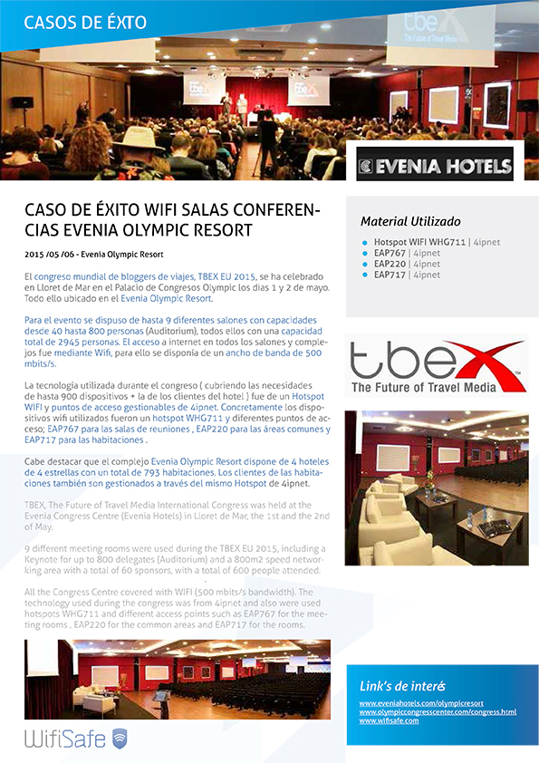 PDF caso de éxito WiFi en sala conferencias Evenia Olympic Resort