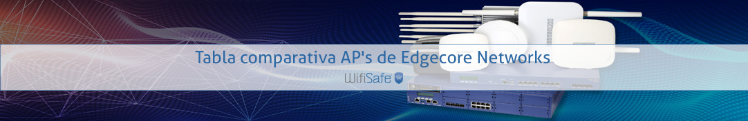 Tabla comparativa AP's de Edgecore Networks