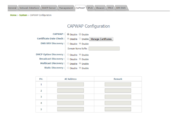 CAPWAP es un protocolo interoperable estándar