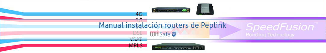 Manual instalación routers de Peplink